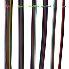 5~100 meters 2pin 3pin 4pin 5Pin 6pin 22 AWG Cable Extension Electric Wire Led Connector For 5050 3528 RGBW RGB CCT LED Stirp