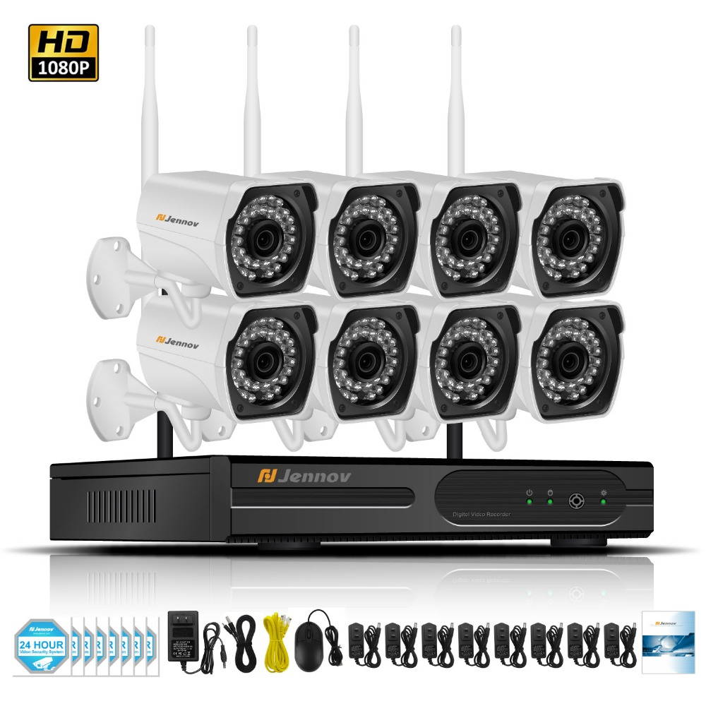 8CH 2MP CCTV Kit 1080P Home Wireless CCTV Security Camera System With NVR HD Wifi Video Outdoor Surveillance Kit APP Remote View jacques lemans jl lp 113c