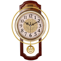 Vintage Pendulum Clock Wall Home Decor Silent Clock Shabby Chic Home Decor Wall Clock Modern Design Europe Classic Wall Clocks