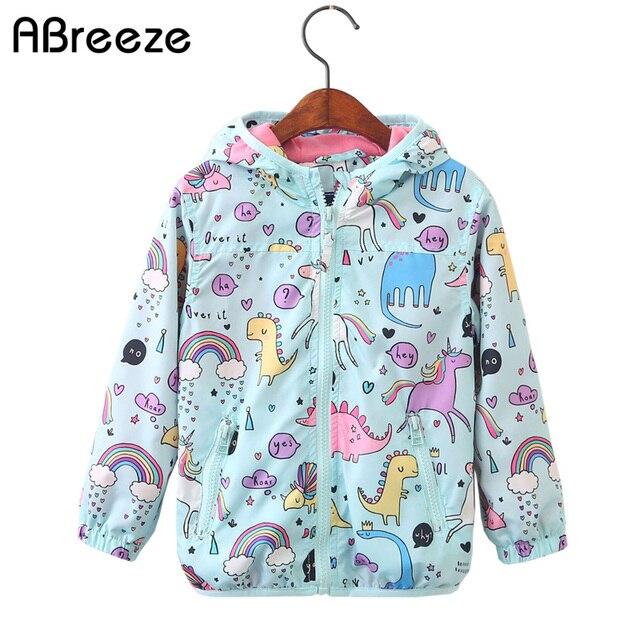 52413b979c984 Filles mignonnes vêtements 2018 printemps enfants licorne veste pour filles  dinosaure bébé fille vestes manteaux dessin
