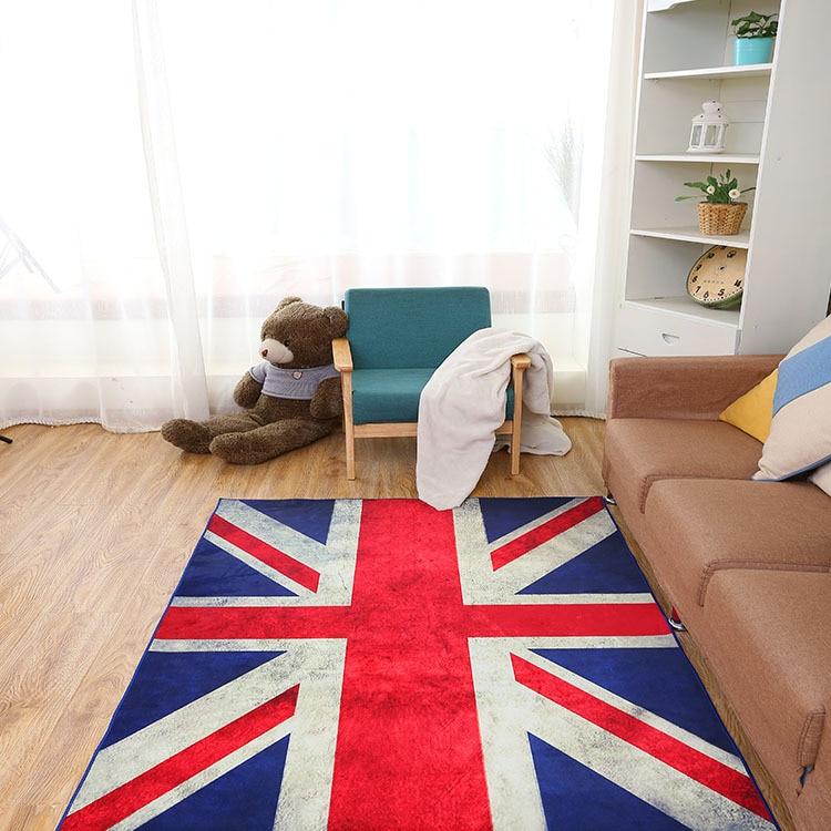 Zeegle drapeau tapis pour salon anti-dérapant chaise de bureau tapis de sol doux tapis pour enfants enfants chambre tapis chevet tapis - 2