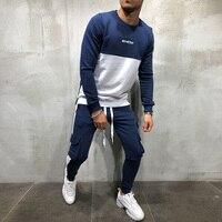 EEHCM New Brand Tracksuit Hip hop men 2 Pieces Sets Sportswear +Multi pocket pants Suit Malechandal hombre Sporting Track Suit