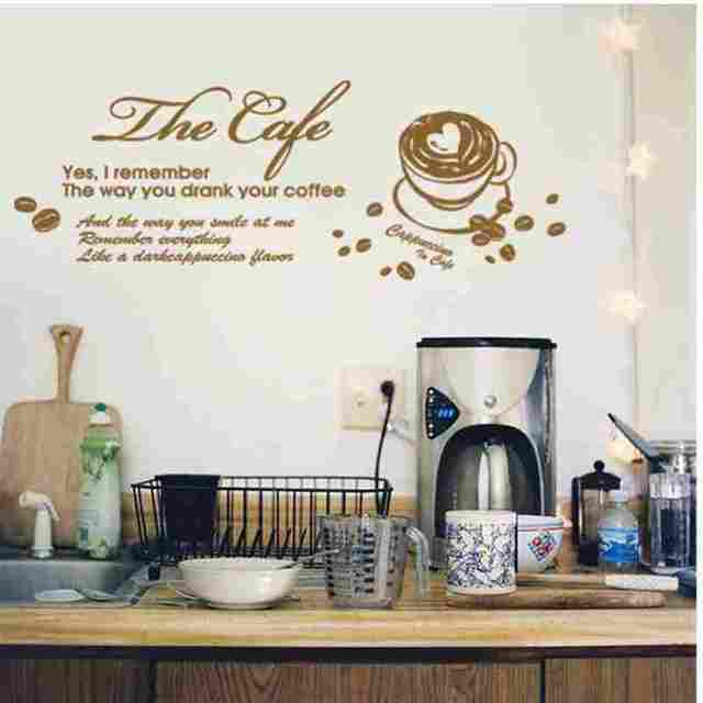 Coffee sticker food decal cafe poster vinyl art wall decals pegatina quadro parede decor mural coffee