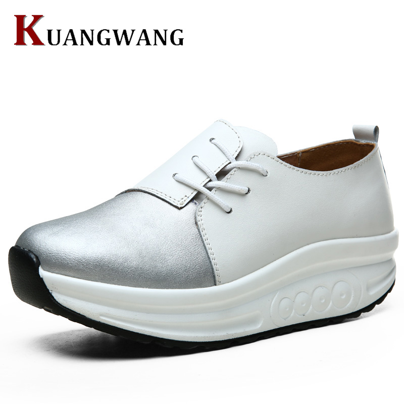 Women Leather Loafers 2017 Spring Shoes Round Toe Patent Leather Breathable Lace Up Leather Women Flat Shoe tfsland men women genuine leather loafers students white shoes unisex spring round toe lace up breathable walking shoes sneakers