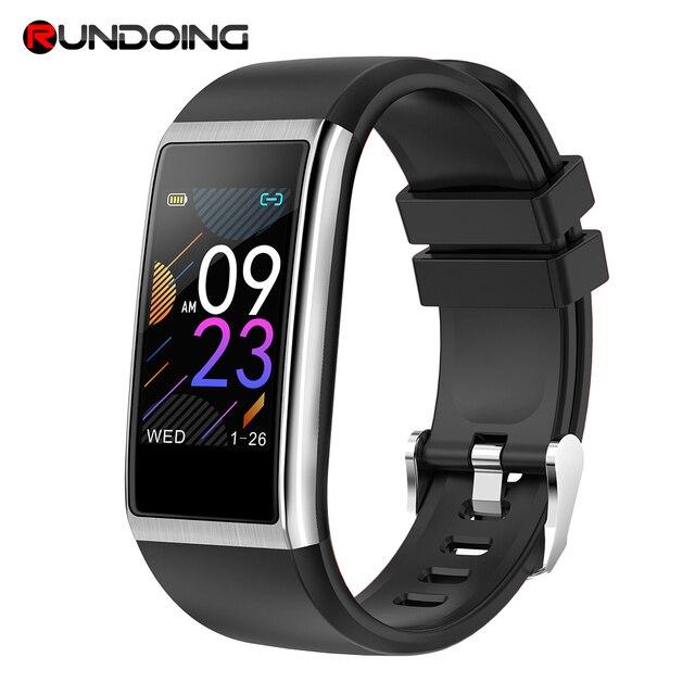 RUNDOING NY06 pulsera inteligente IP68 impermeable mensaje recordatorio smartband Corazón de pulsera inteligente rastreador de Fitness con H banda