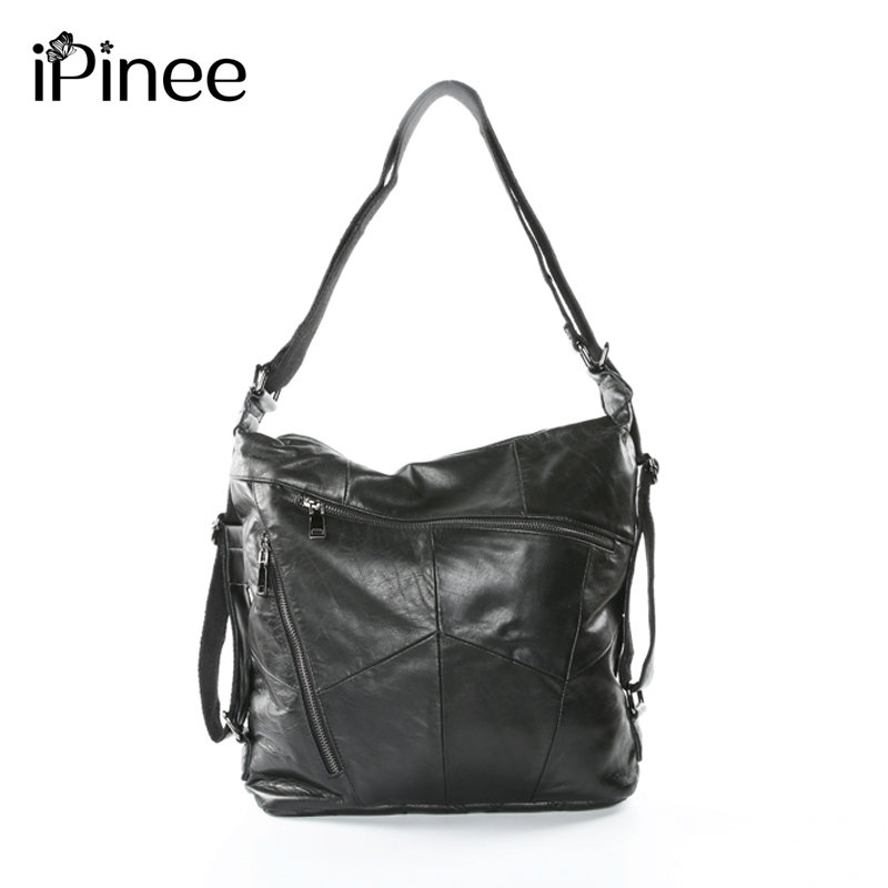 iPinee 2019 New Arrived Totes Genuine Leather Women Hobos Shoulder Bag Famous Designer Zipper Handbags Casual ShoppingiPinee 2019 New Arrived Totes Genuine Leather Women Hobos Shoulder Bag Famous Designer Zipper Handbags Casual Shopping