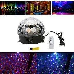 Magiczna kryształowa kula RGB światła sceniczne MP3 odtwarzacz DJ Disco efekt oświetlenia scenicznego projektor świetlny światła wysokiej jakości AC85-265V