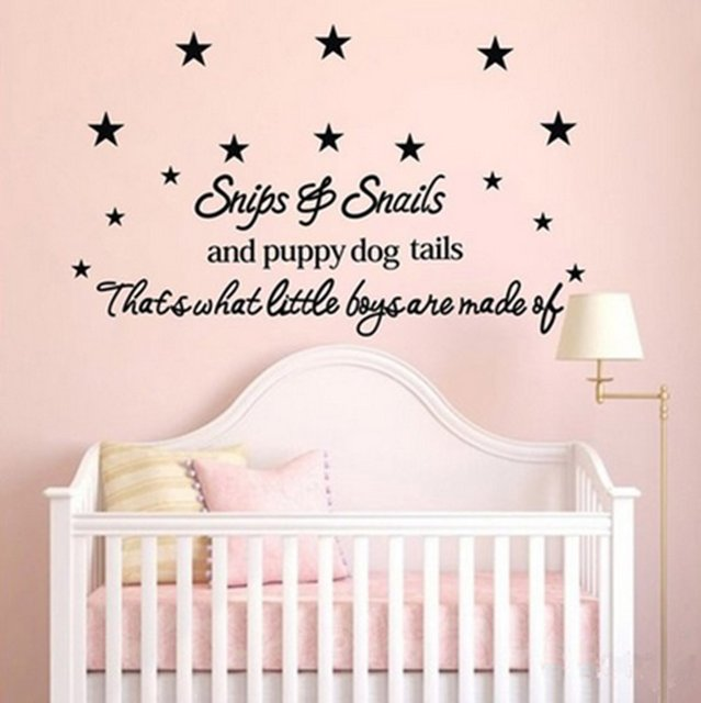 Snips Snails Puppy Dog Tails Star Baby Room Wall Stickers Decal For Kids Bedroom Nursery