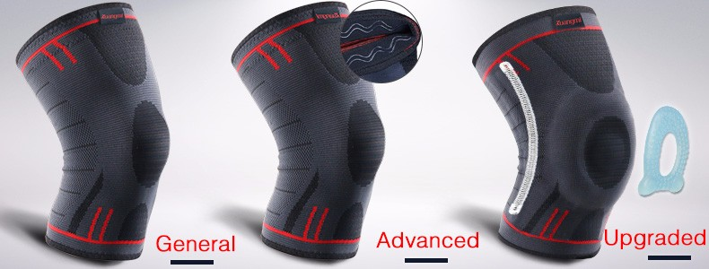 HTB18qtoOXXXXXX XXXXq6xXFXXX5 - Kuangmi 1 PC Compression Knee Sleeve Basketball Knee Pads Knee Support