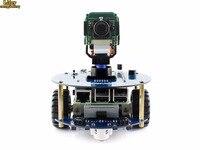 AlphaBot2 robot kit with Original Raspberry Pi 3 Model B /RPi Camera (B)/IR remote controller, auto obstacle avoiding