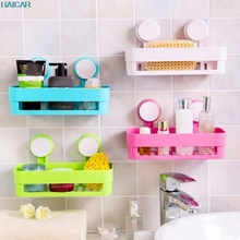 Wall Mounted Type Bathroom Storage Holder Shelf Shower Caddy Tool Organizer Rack Basket Sucker Cup JAN19