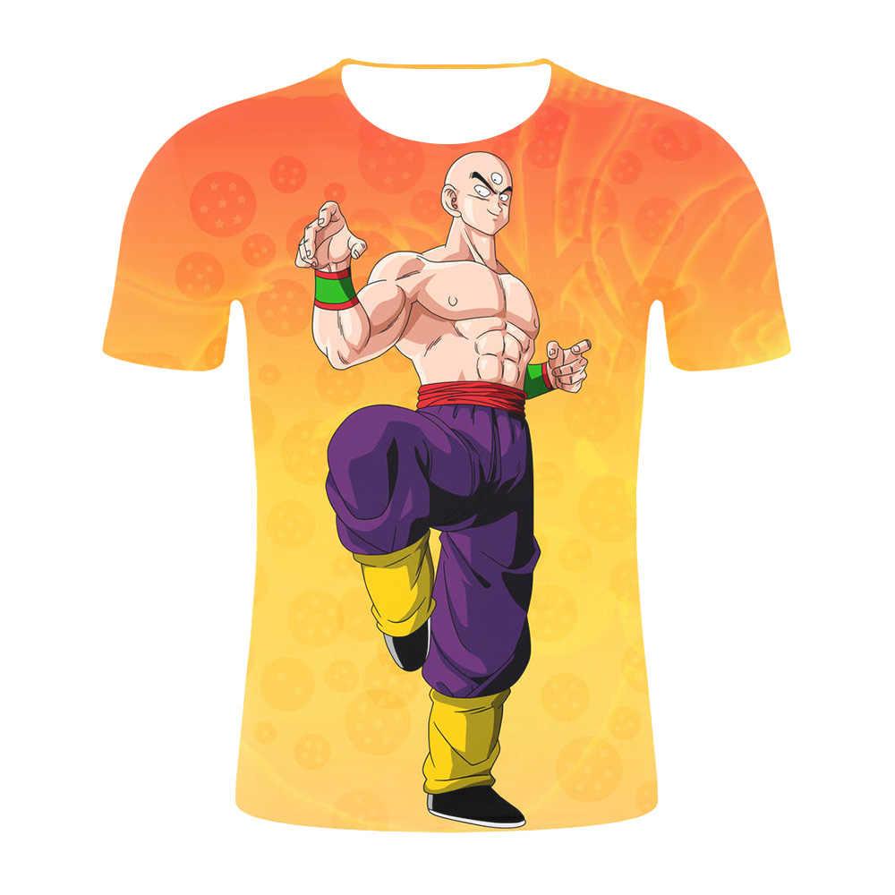 Новый Dragon Ball Z футболки мужские летние 3D печать супер сайян Сон Гоку черный Zamasu Вегета Dragonball Повседневная футболка Топы футболки