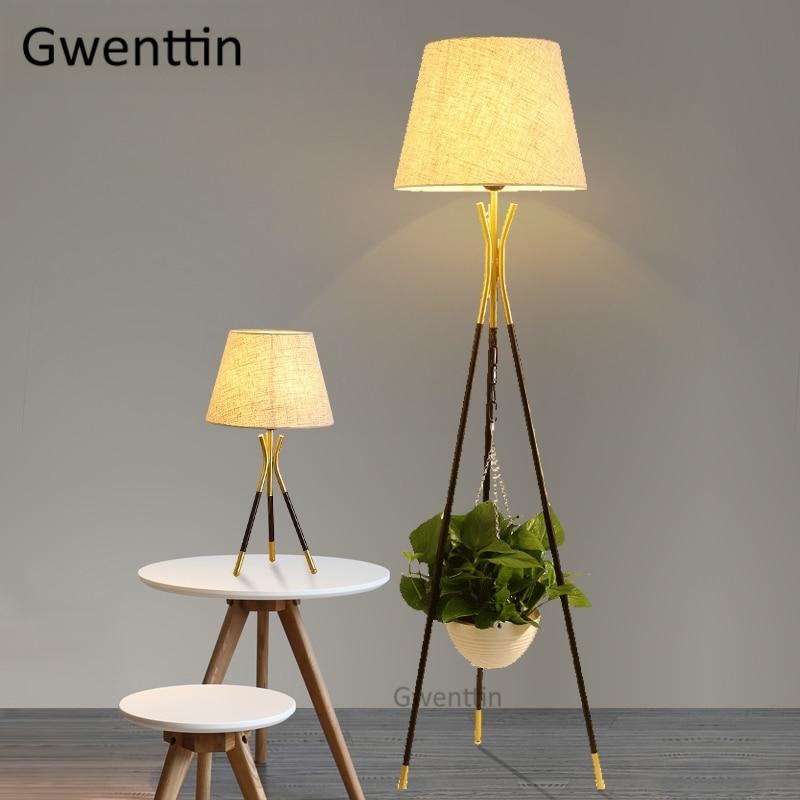 Nordic Gold Tripod Floor Lamps Modern