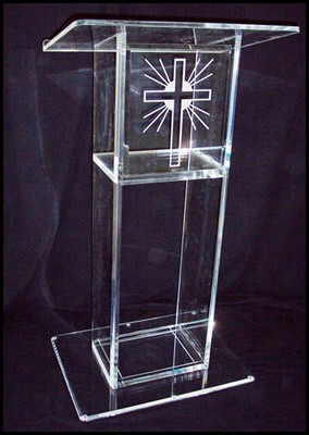 Free Shipping Fashionable Acrylic Pulpit Of The Church With Column, Acrylic Podium