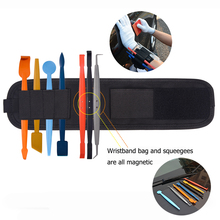 EHDIS 7pcs Magnetic Foil Squeegee Scraper Kit Vinyl Film Car Wrap Window Tints Strong Magnet Wristband Auto Sticker Accessories