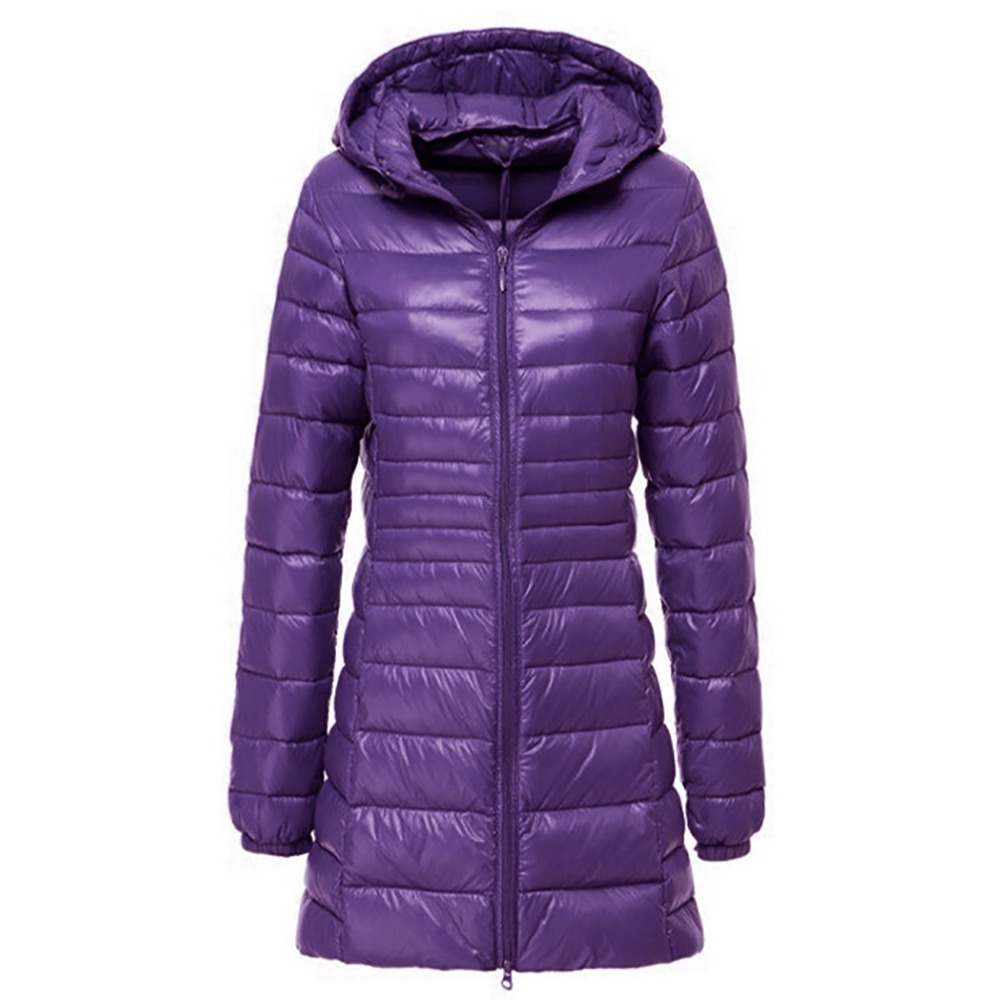 2018 Brand Winter Long Down Jacket Women Ultra Light Down Ladies Warm Hooded Coat Women Ultra Light 90% White Duck Down Parka