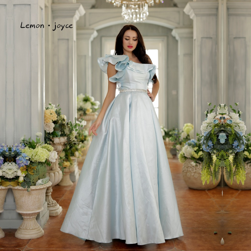 d70a8d47722d5 US $82.5 45% OFF|Elegant Prom Dresses for Girls 2019 New Style One Shoulder  Simple Ball Gowns Floor Length Long Party Gowns Plus Size-in Prom Dresses  ...