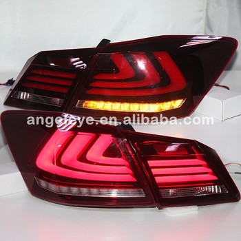 For HONDA 2013 TO 2014 year For Accord LED Strip Tail Light Red White Color YZ