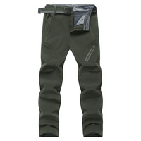 Big Size 9XL Men trousers 2017 New arrival Autumn Fleece Quick Dry Pants Winter Breathable Thermal Waterproof Pants Army Green