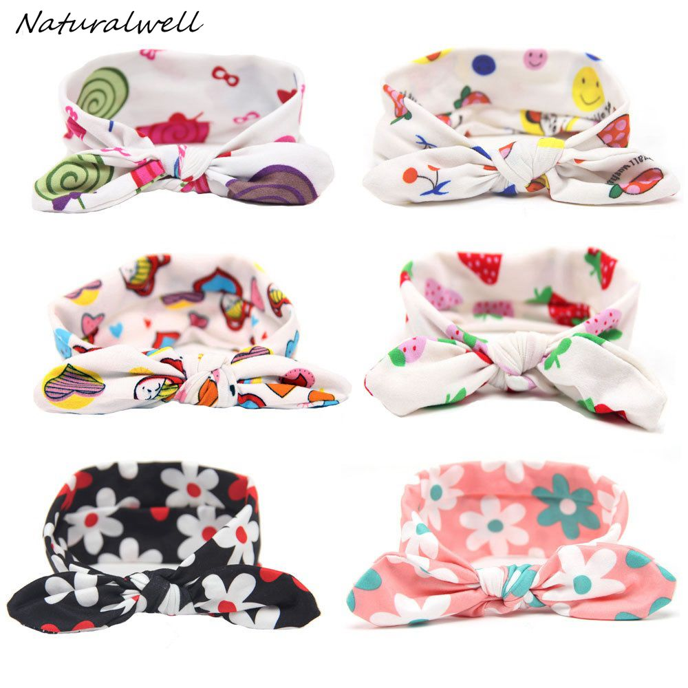 Naturalwell Baby Knot Headbands Knotted Head Wrap Top Knot Headband Girls Shower Gift Modern Turban Organic Head wraps HB549