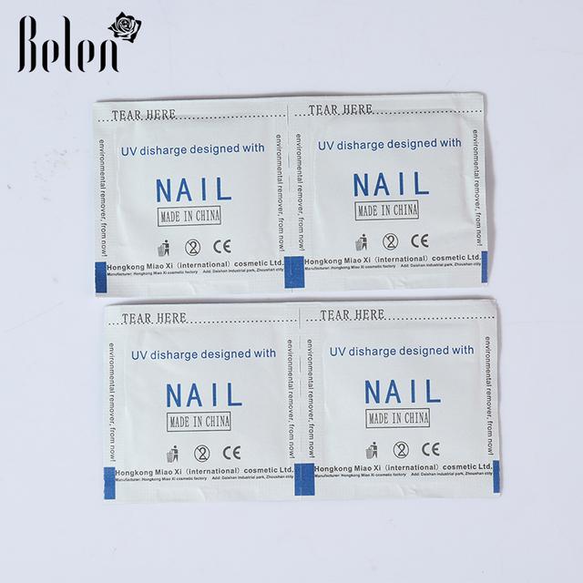 Belen 2017 Professional 50 Pcs / Lot Gel Polish Remover Wraps Nail Art Gel Polish Nail Art Cleaner Nail Polish Remover Wipes