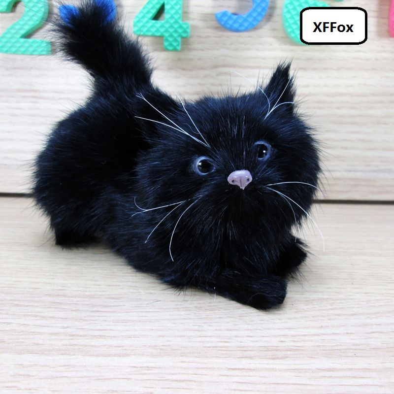 cute real life black cat model plastic&furs simulation cat doll gift about 12x5x10cm xf1214cute real life black cat model plastic&furs simulation cat doll gift about 12x5x10cm xf1214