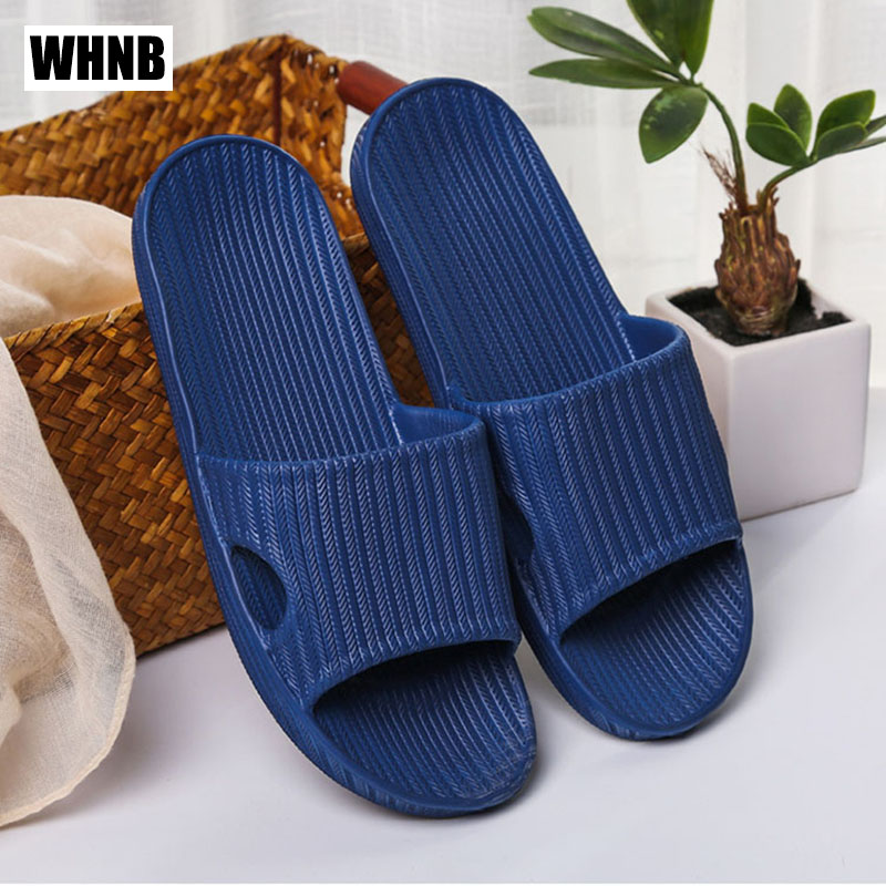 Summer Home Slippers New Couple Indoor Hotel Non-slip Bathroom Men Sandals Outdoor Fashion Stripes Cushioning Beach Shoes Women
