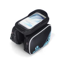 Bicycle Frame Front Head Top Tube Waterproof Bike Touch Screen Bag Double IPouch Cycling For