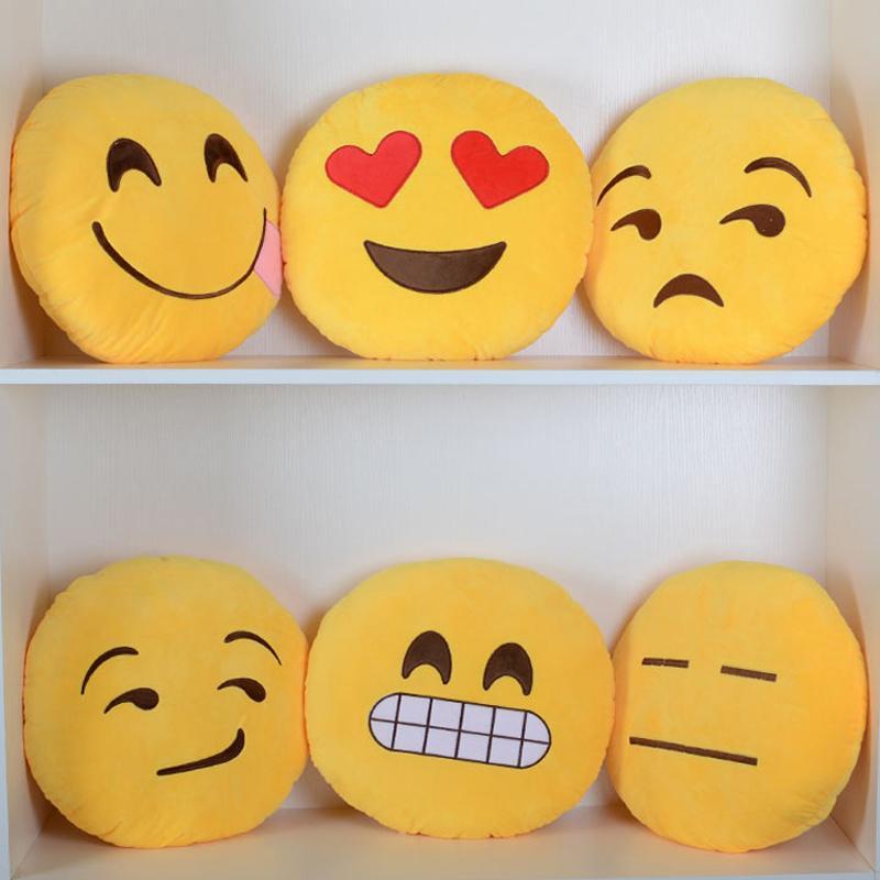 aliexpresscom buy cushion kawaii emoji smiley pillow cartoon facial qq expression cushion pillows round home decorative pillow stuffed plush toy from