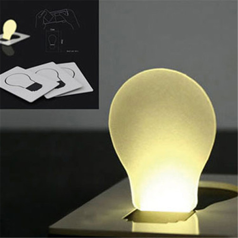 Amazing New Portable Pocket LED Card Light Creative Lamp Put In Purse Wallet Easy To Carry 150835
