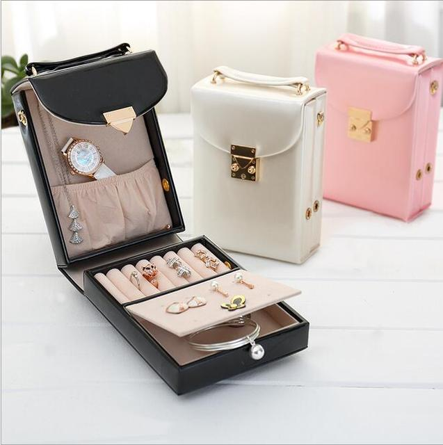 Fashion leather jewelry bag 2016 new pattern  great gifts for your girl  bestselling jewelry casket