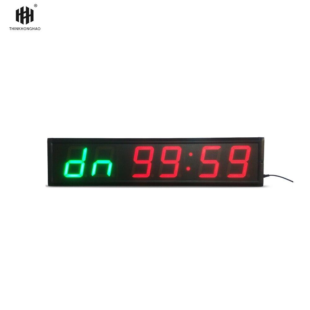 Trasporto libero 4 ''6 Cifre LED Conto Alla Rovescia Orologio Allenamento Timer Per Garage Home Gym Crossfit Formazione EMOM Tabata di Fitness timer