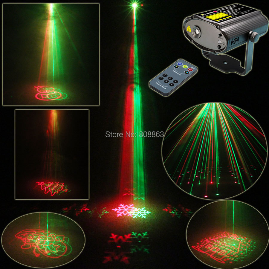 Mini R&G Laser 8 Christmas Patterns Projector Dance Disco Bar Family Party Xmas Stage Lights DJ environment lighting Light Show стоимость