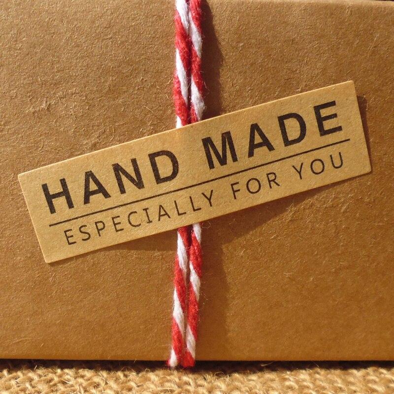 120 шт., креативные многофункциональные Стикеры из крафт-бумаги для изделий ручной работы, стикеры для подарков, 5, 5 х1, 5 см