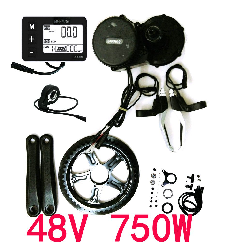 8fun Bafang  BBS02B 48V 750W Brushless Mid Drive Central Motor Conversion DIY Trike Ebike  Kits bafang 750w bafang 8fun motor 750w bafang kit bafang bbs 02b