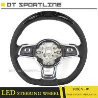 Светодиодный руль для VW Гольф 6 замена Гольф 7 Tiguan CC углеродное волокно светодиодный гонки дисплей ЖК дисплей экран guage метр