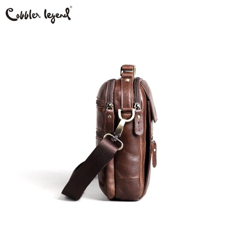 Cobbler Legend Genuine Leather Men Bags Flap Casual Handbags Men's Shoulder Bag