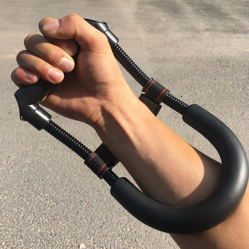 Hand Grip Arm Trainer Adjustable Forearm Hand Wrist Exercises Force Trainer Power Strengthener Grip Fit Bodybuilding Fitness image