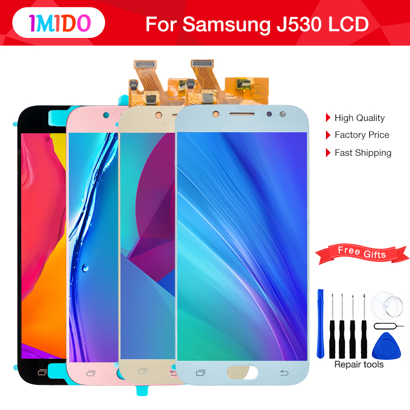 LCD For Samsung J530 LCD Touch Screen Digitizer Assembly For Samsung Galaxy J5 Pro 2017 J530 J530F J530FM Brightness Adjustable