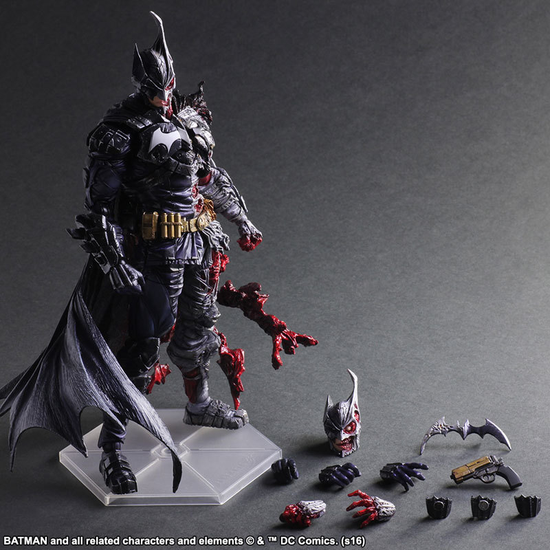dc comics play arts kai batman double face doll pvc action figure collectible model toys 27cm