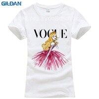 GILDAN VOGUE Punk Princess Print T Shirt 2017 Summer Fashion Women T Shirt Funny Harajuku Short