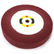 Non-Woven Scouring Pad 6Inch Grinding Wheel Flap Mop Polishing Disc 320# 20Mm Bore 2 Inch Thick New 1Pc