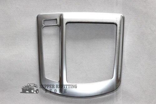 Chrome Gear Frame Shift Knob Round Cover Trim For Mazda CX 5 CX5 2012 2013 2014