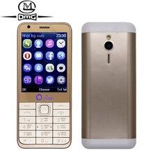 "Russian keyboard mobile phone 4 Quad SIM Cards Quad Band Bluetooth FM Camera 2.8"" Screen old man Original OEINA 230 cell Phones"