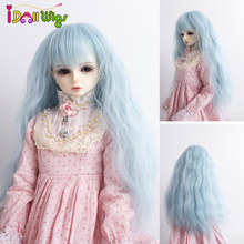 Doll Wigs Long Curly Light Blue Hair for Blyth/Pullip Doll with 25cm Head Circumference кукла pullip little dal doll panty