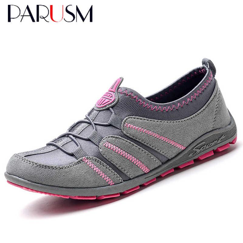 2019 Phụ Nữ Giày Không Lưới Giày Nữ Giày Nữ Thời Trang Giày SLIP-ON Ngoài Trời Falts Chaussures Femme
