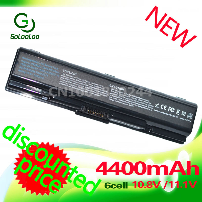 Golooloo 4400mah PA3534U-1BRS Аккумулятор для Toshiba Satellite A300 A500 для Pro L550 L450 A200 L300 A350 A210 L500 PA3535U-1BAS