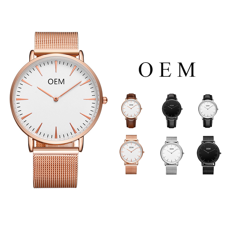 CL015 Arabic Number Custom Logo Watches Japan Quarzt Movt Water Resistant Brand Your Own Men Watches Muslim OEM Logo