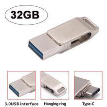 USB 3,0 32 ГБ Flash Drive Memory Stick хранения пера диск Цифровой Тип-C& USB двойного назначения U диска