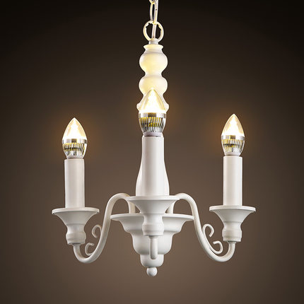 3 Lights Nordic Candle Pendant Lamp Retro White Candle Hanging Lights Living Room Study Light With Led bulbs Free Shipping free shipping pendant lights rustic white candle iron 3 5 6 white lamps foyer pendant light restaurant dining pendant lamp